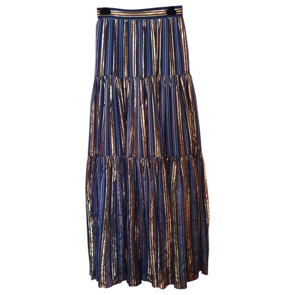Peter Pilotto \N Navy Silk skirt for Women 10 UK