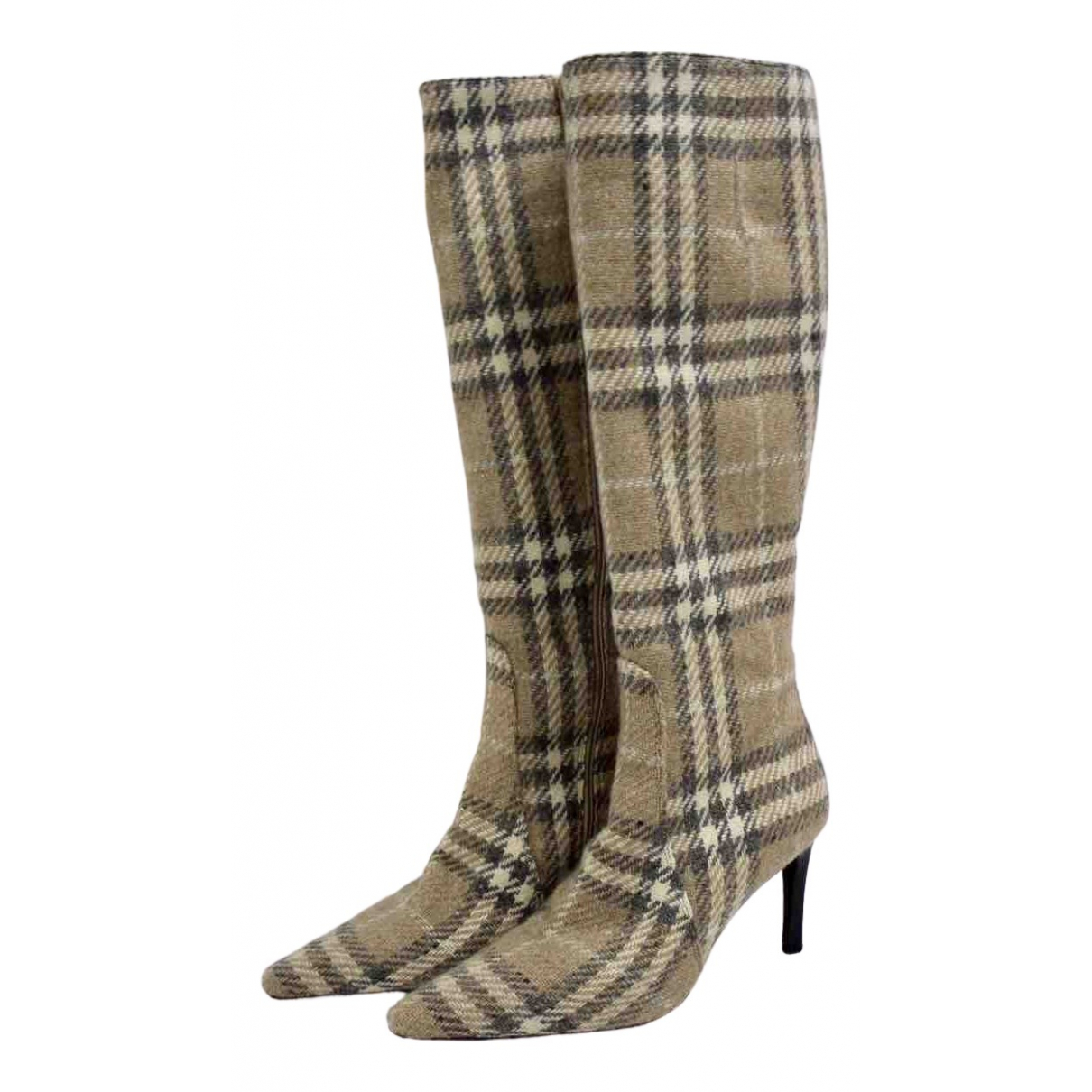 Burberry N Beige Cloth Boots for Women 40 IT