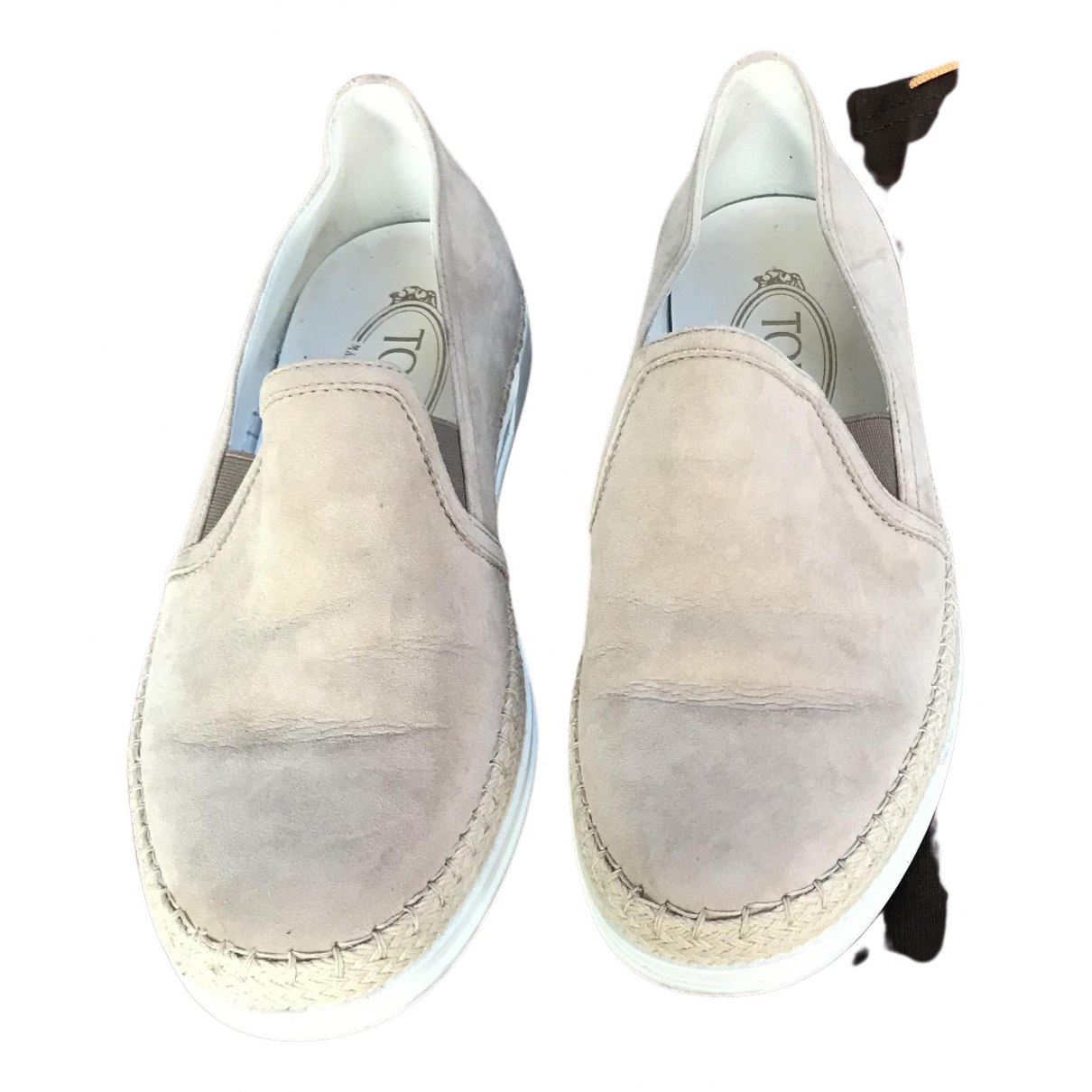 Tod's N Beige Suede Trainers for Women 37 IT