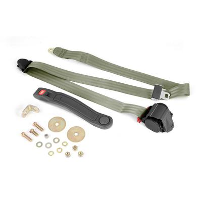 Omix-ADA 3-Point Retractable Lap Seat Belt in Olive Drab (Olive Drab) - 13202.42