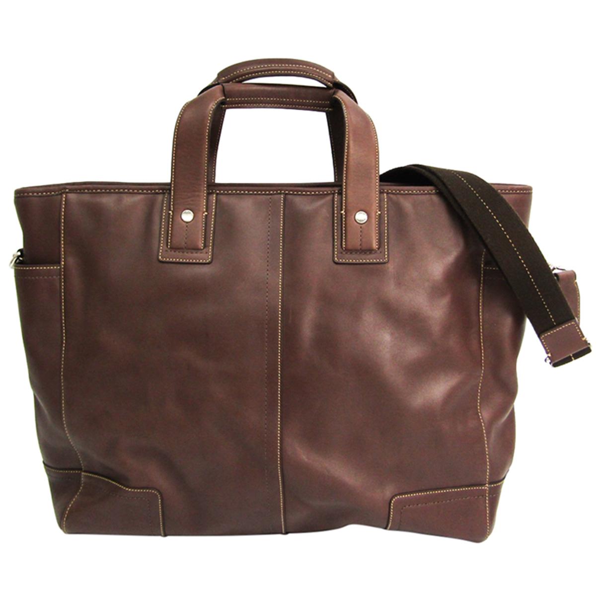 Coach N Brown Leather bag for Men N