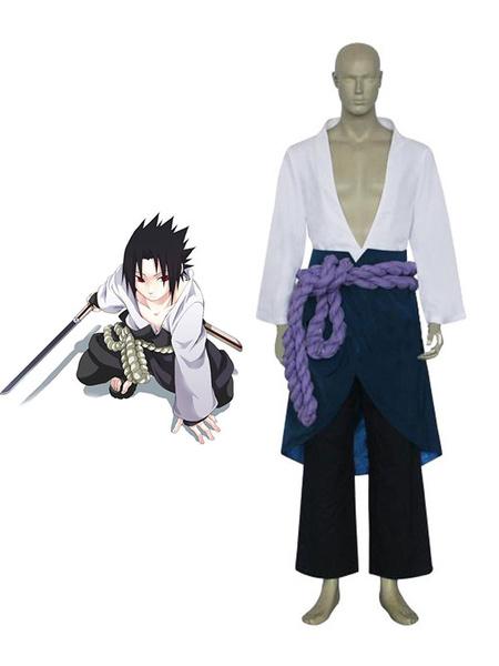 Milanoo Naruto Uchiha Sasuke Anime Cosplay Costume Halloween