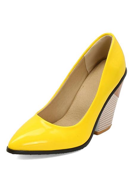 Milanoo Zapatos de tacon en forma de punta puntiaguda con forma especial para mujer