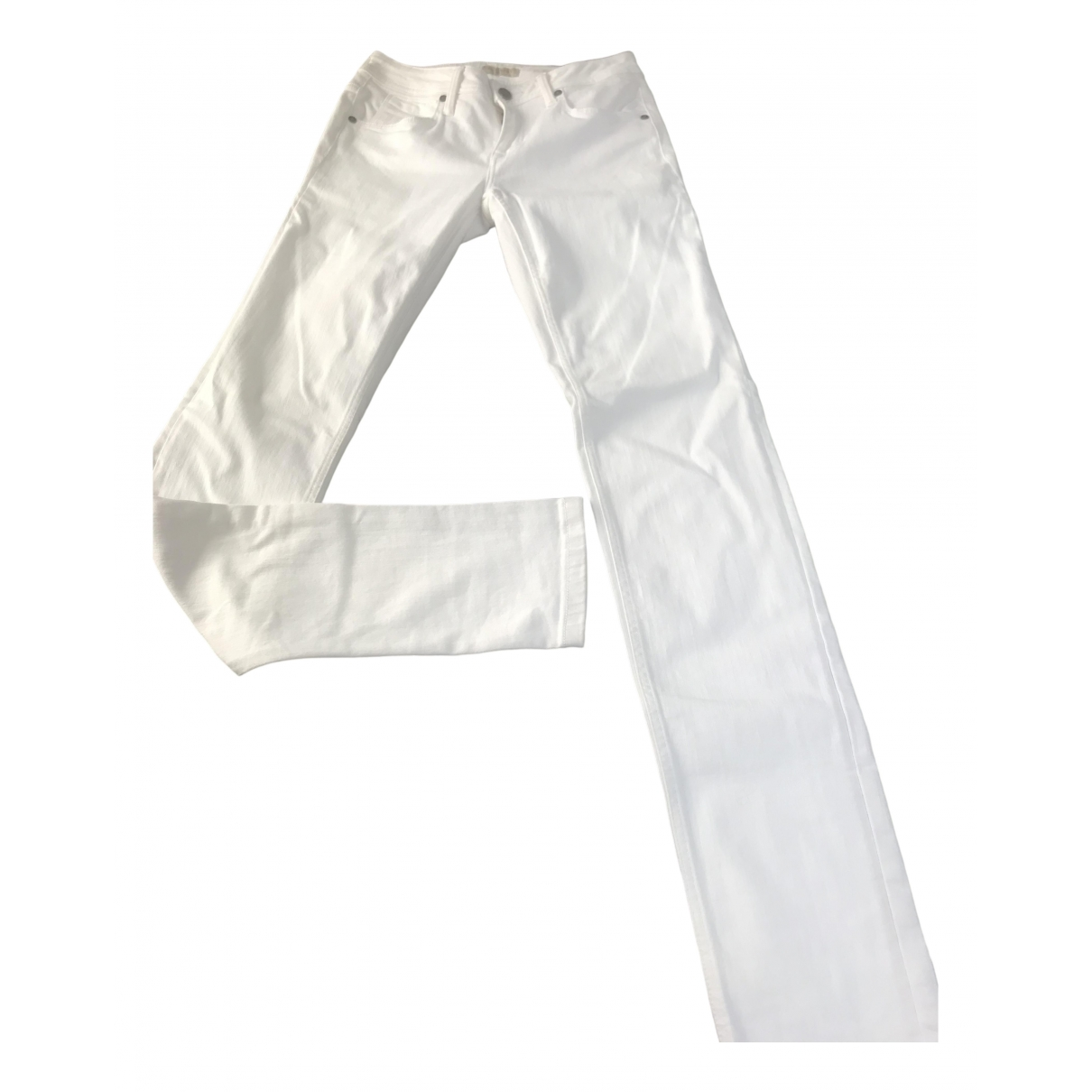 Burberry \N White Cotton - elasthane Jeans for Women 36 FR