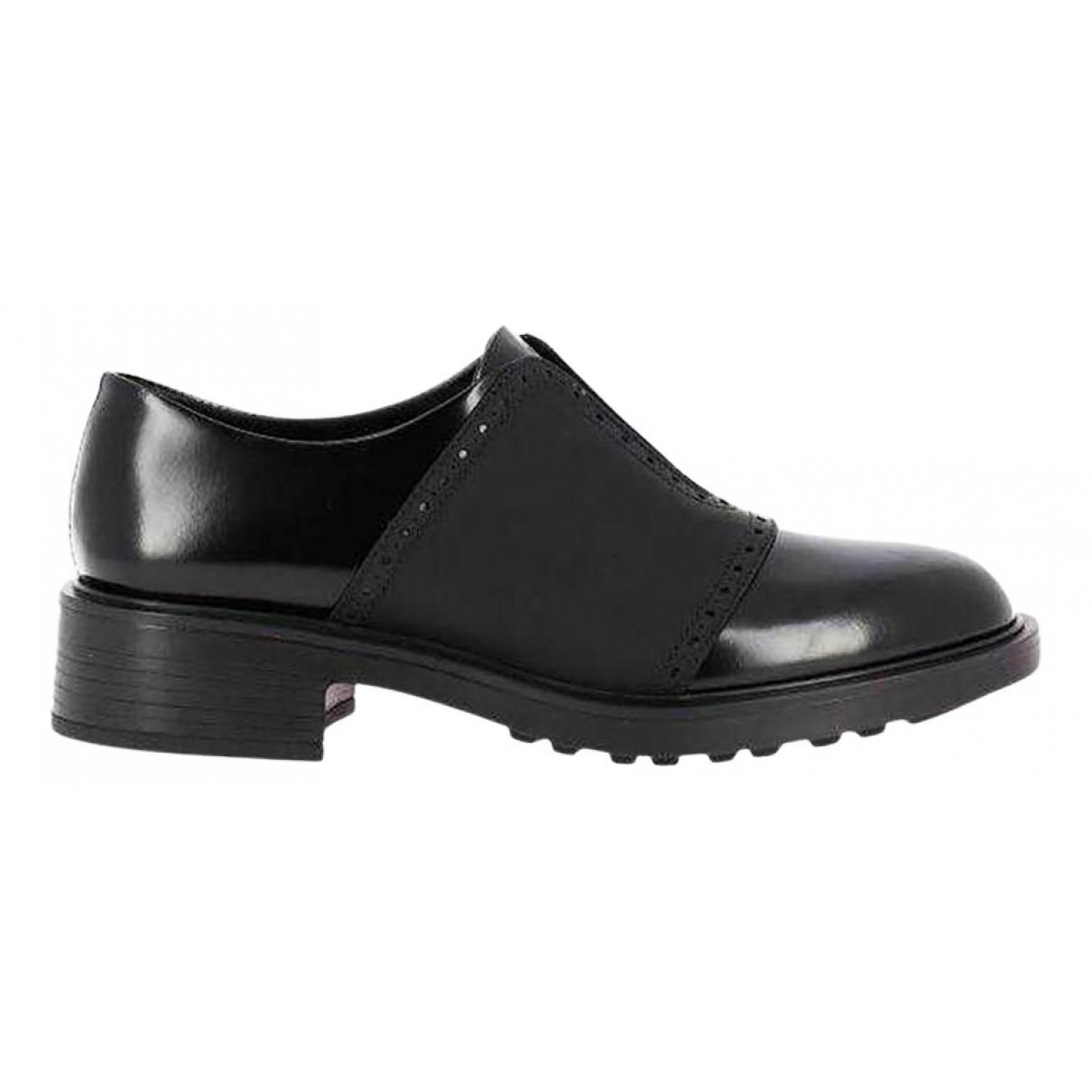 Hogan \N Schnuerschuhe in  Schwarz Leder