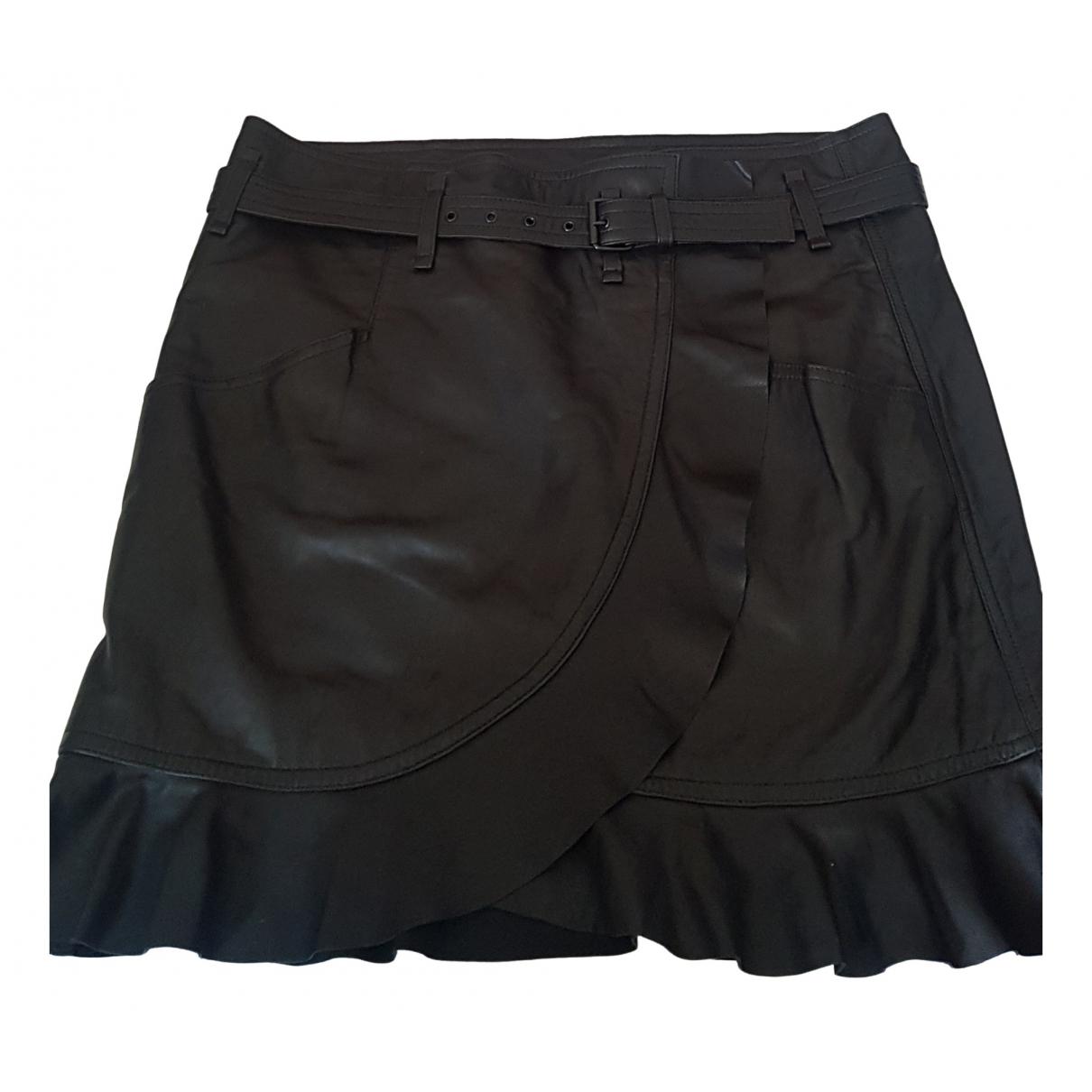 Isabel Marant \N Black Leather skirt for Women 42 FR