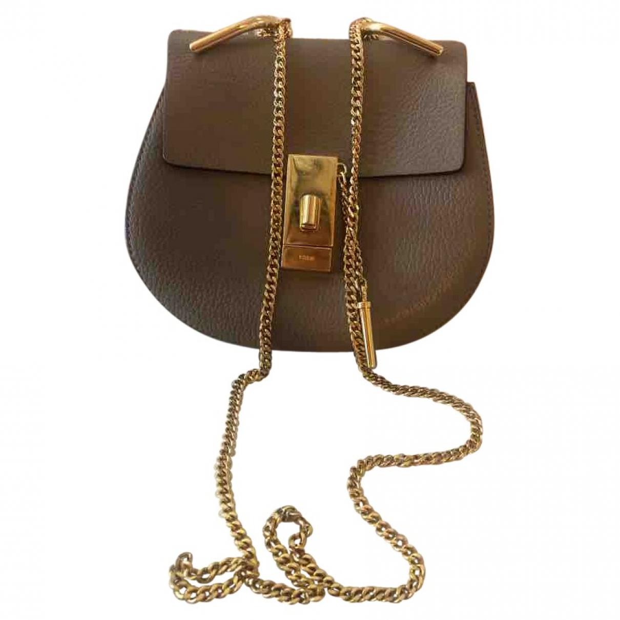 Chloé Drew Grey Leather handbag for Women \N