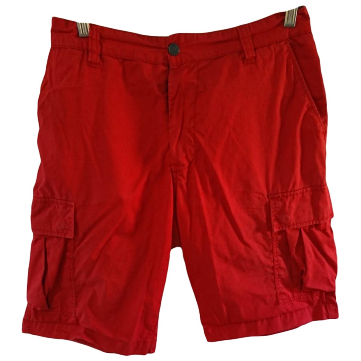 Emporio Armani \N Red Cotton Shorts for Men L International