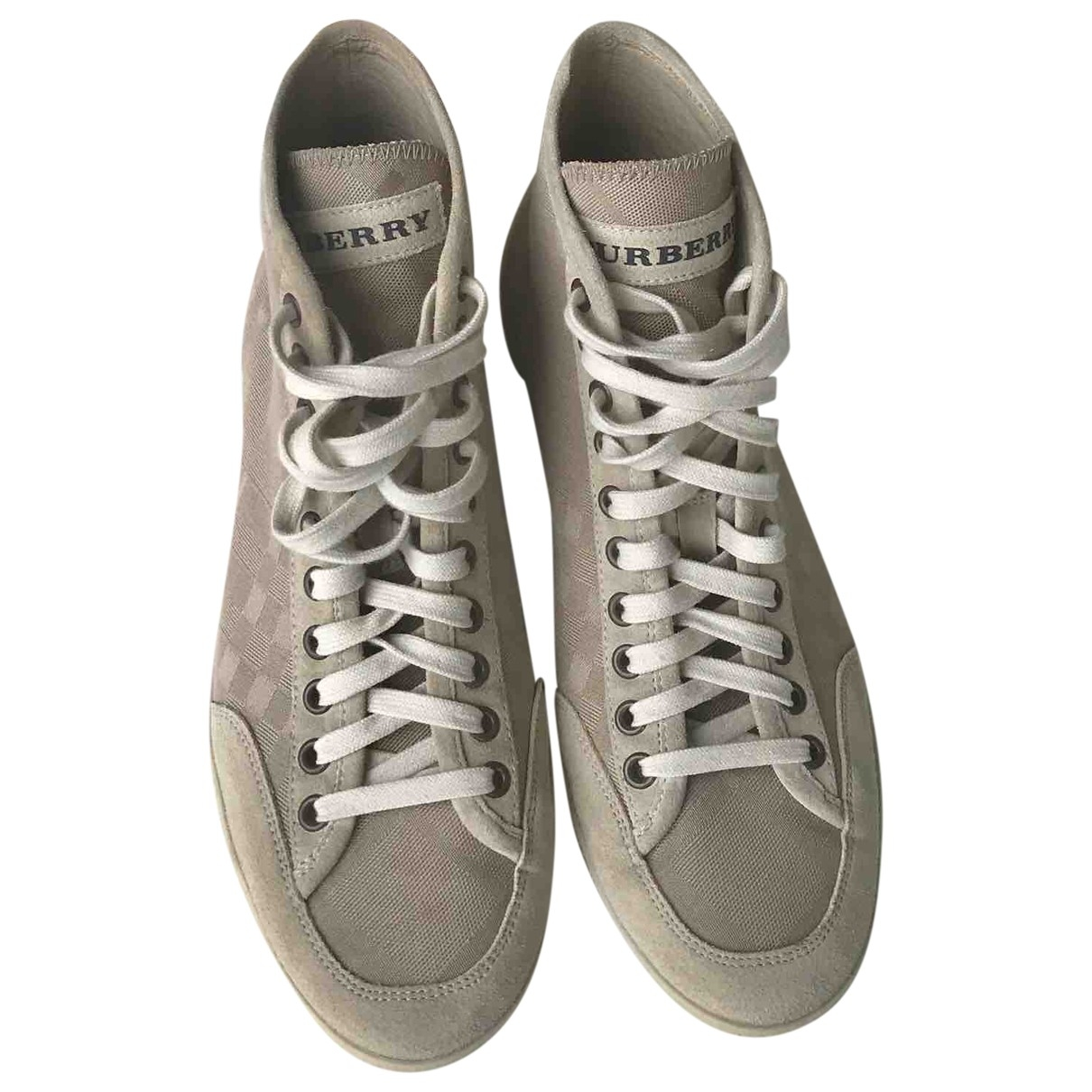 Burberry \N Beige Cloth Trainers for Women 8 UK