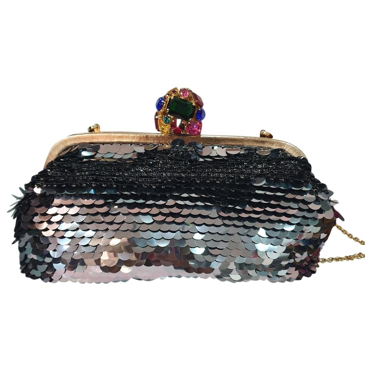 Dolce & Gabbana - Pochette   pour femme en a paillettes - argente