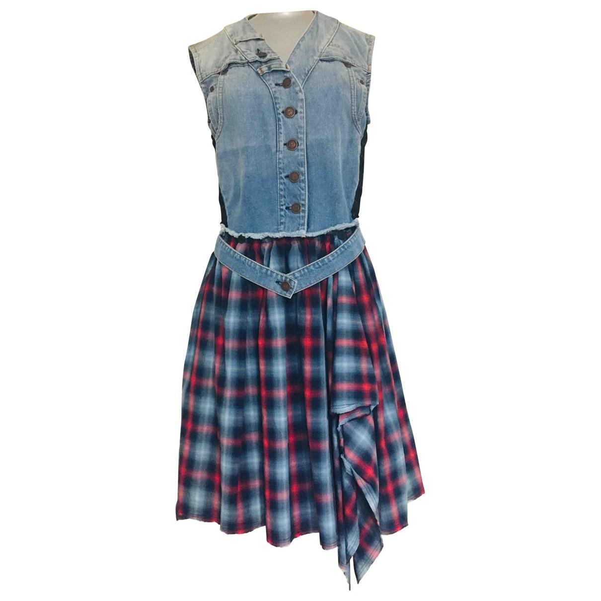 Mcq \N Kleid in  Bunt Baumwolle