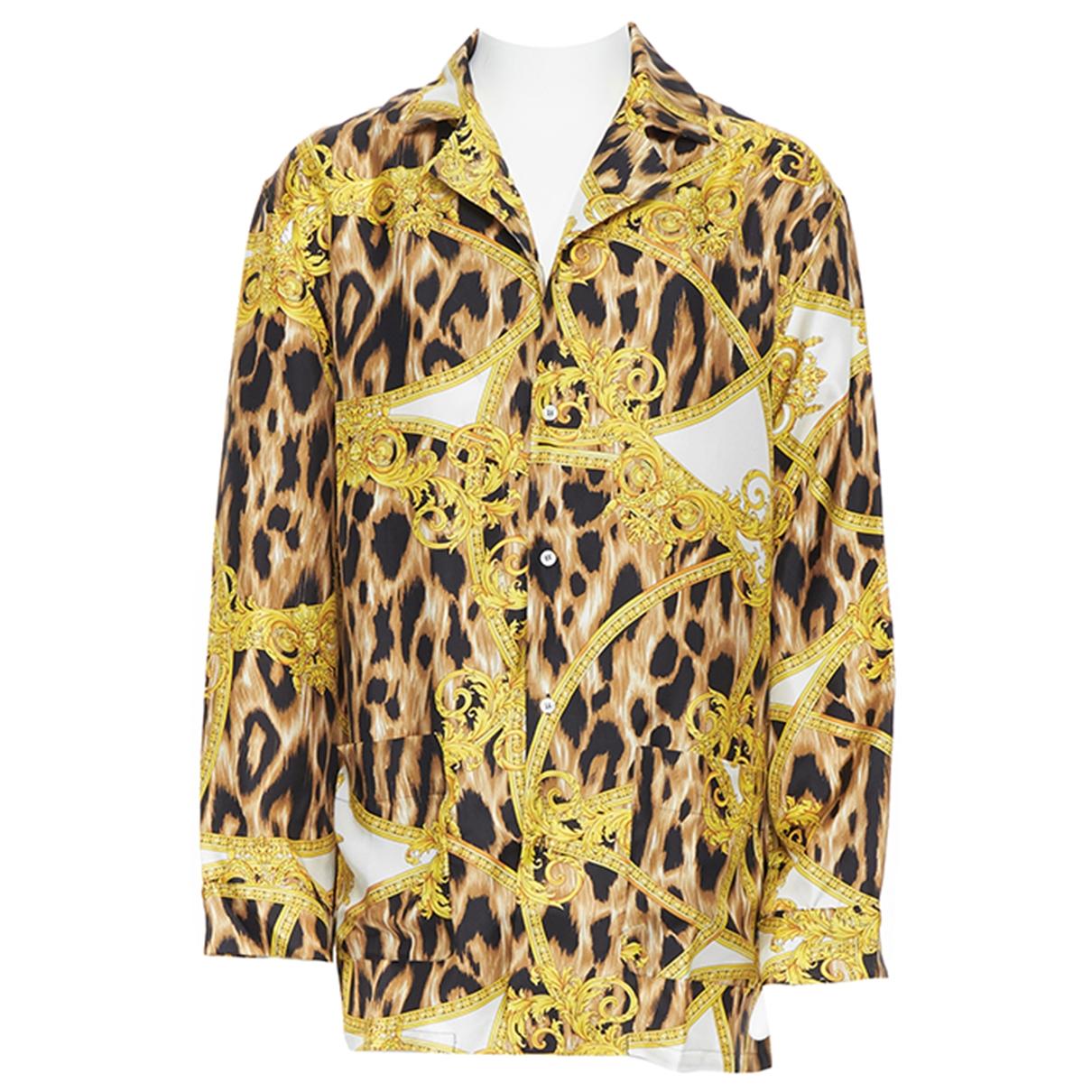 Versace \N Hemden in  Braun Seide