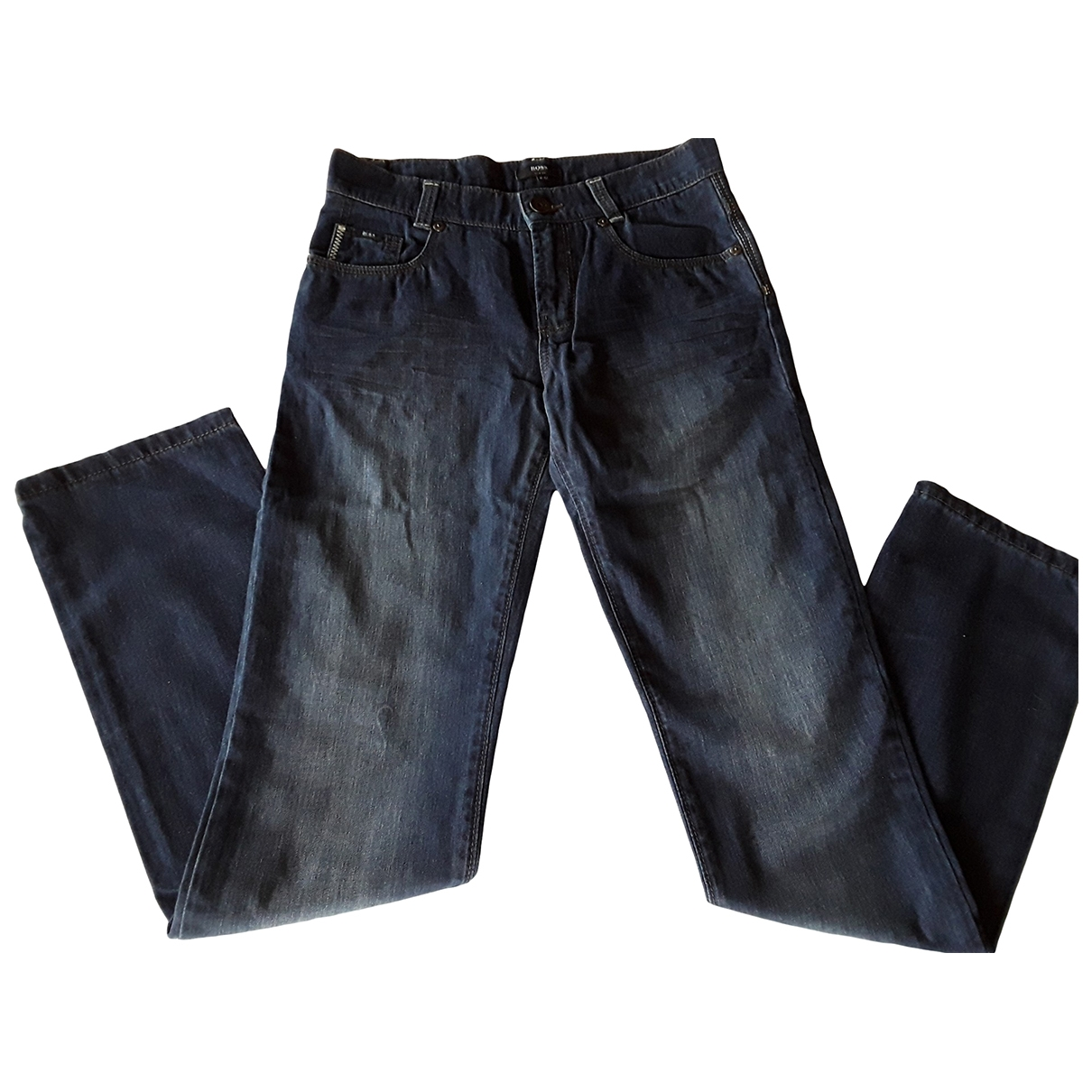 Boss \N Blue Cotton Trousers for Kids 12 years - XS FR