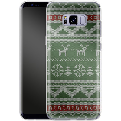 Samsung Galaxy S8 Plus Silikon Handyhuelle - Norwegian Jumper Green von caseable Designs