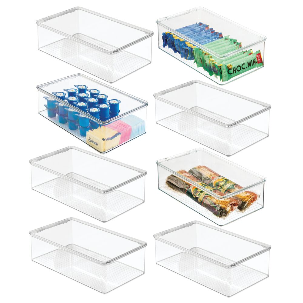 Plastic Kitchen Pantry Food Storage Box with Lid - 7.25