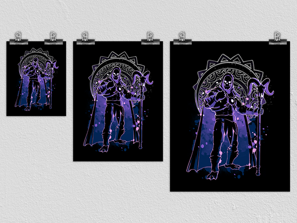 Dark Skeleton Matte Poster Poster