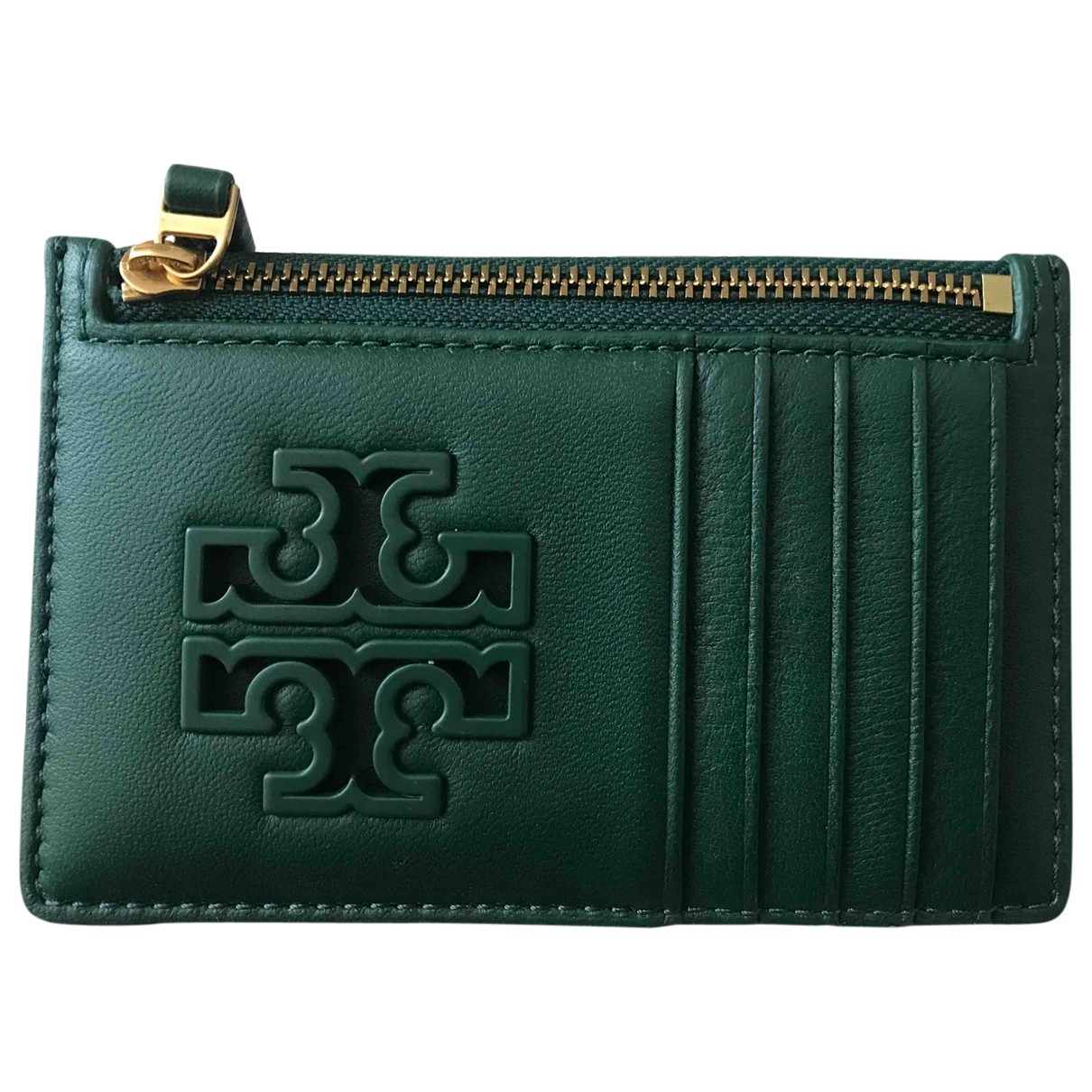 Tory Burch \N Green Leather Purses, wallet & cases for Women \N