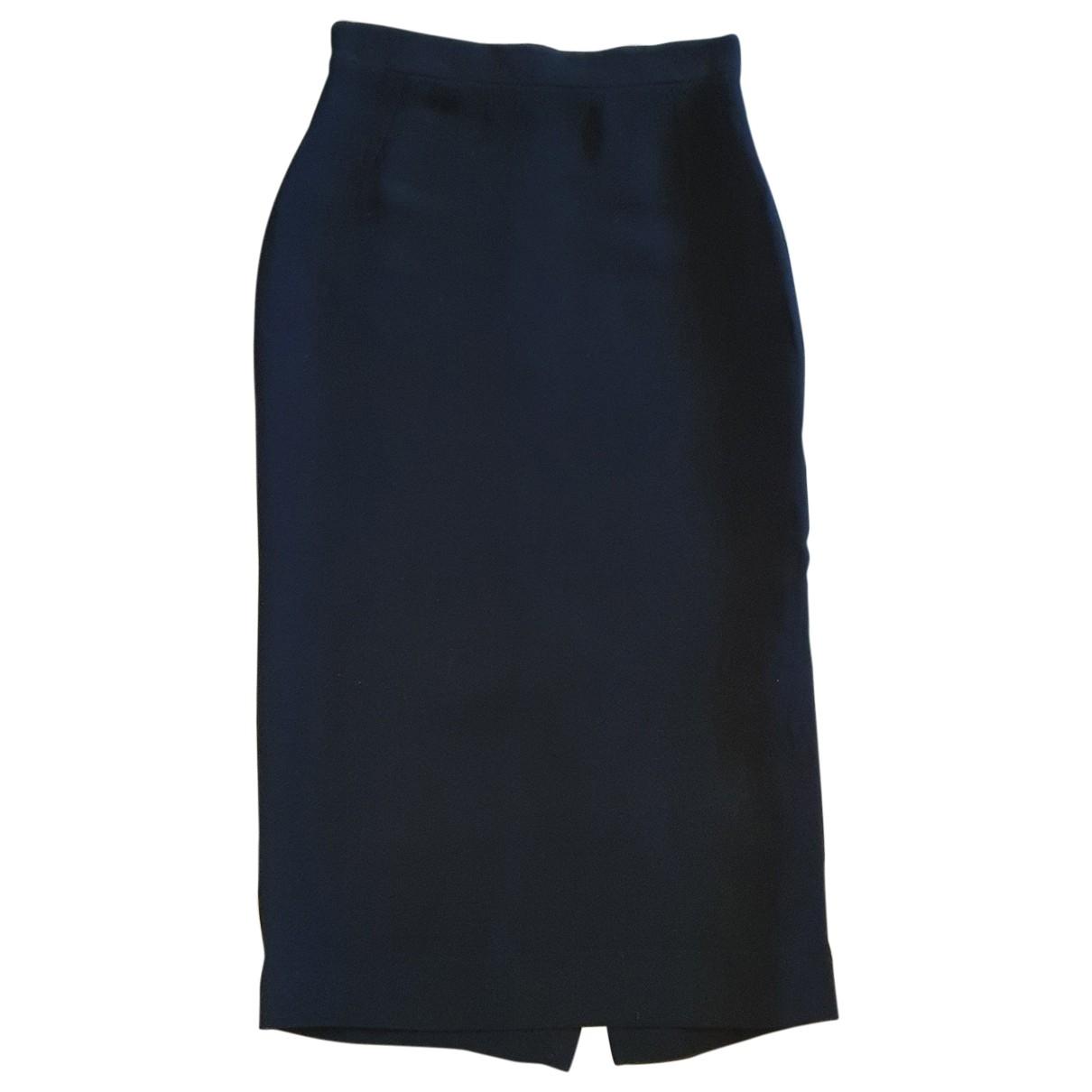 Lanvin \N Black Silk skirt for Women 36 FR