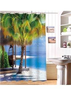 Super Fantastic Relaxing Seaside 3D Shower Curtain