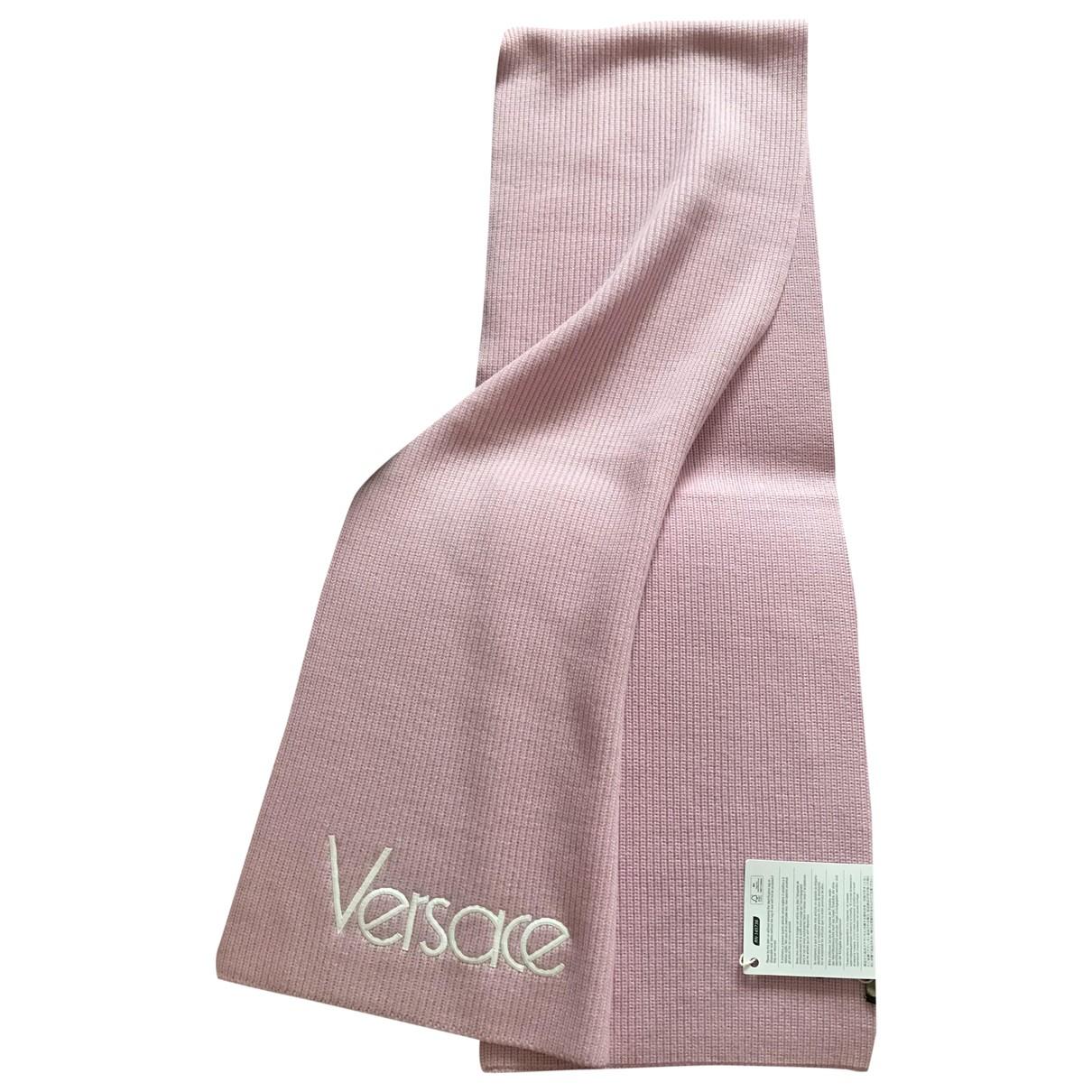 Versace \N Pink Wool scarf for Women \N