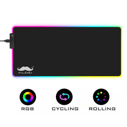 RGB Gaming Mouse Pad, 7 LED Color, 300*800*4mm - Moustache®