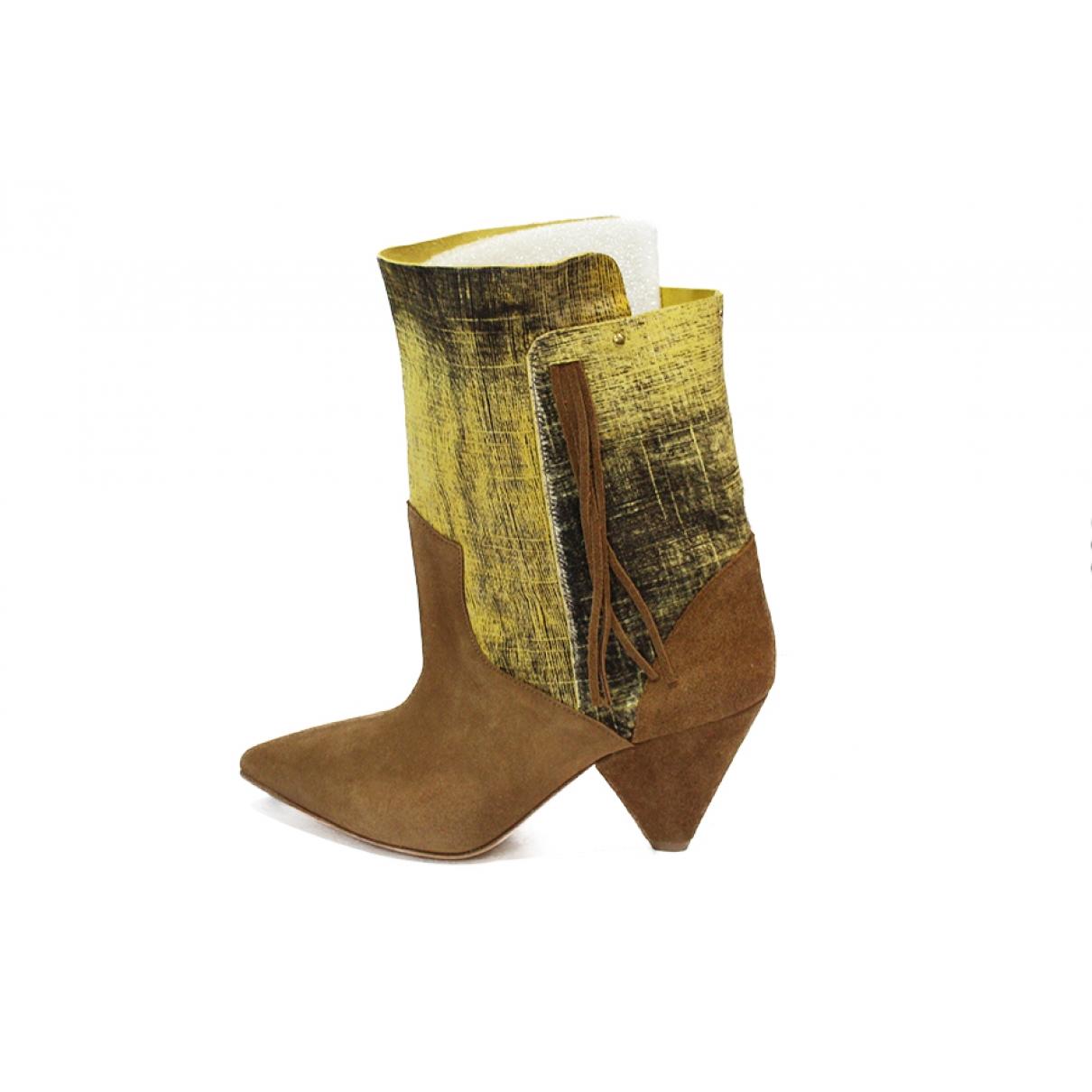 Jerome Dreyfuss \N Beige Suede Ankle boots for Women 39 EU