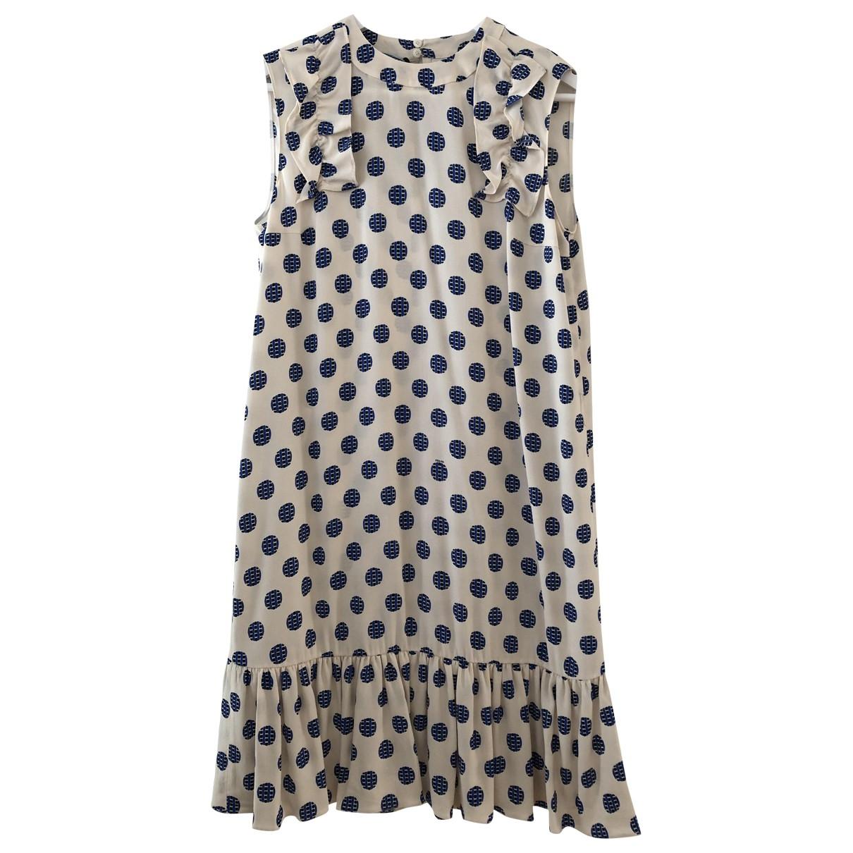 Prada \N Kleid in  Blau Viskose