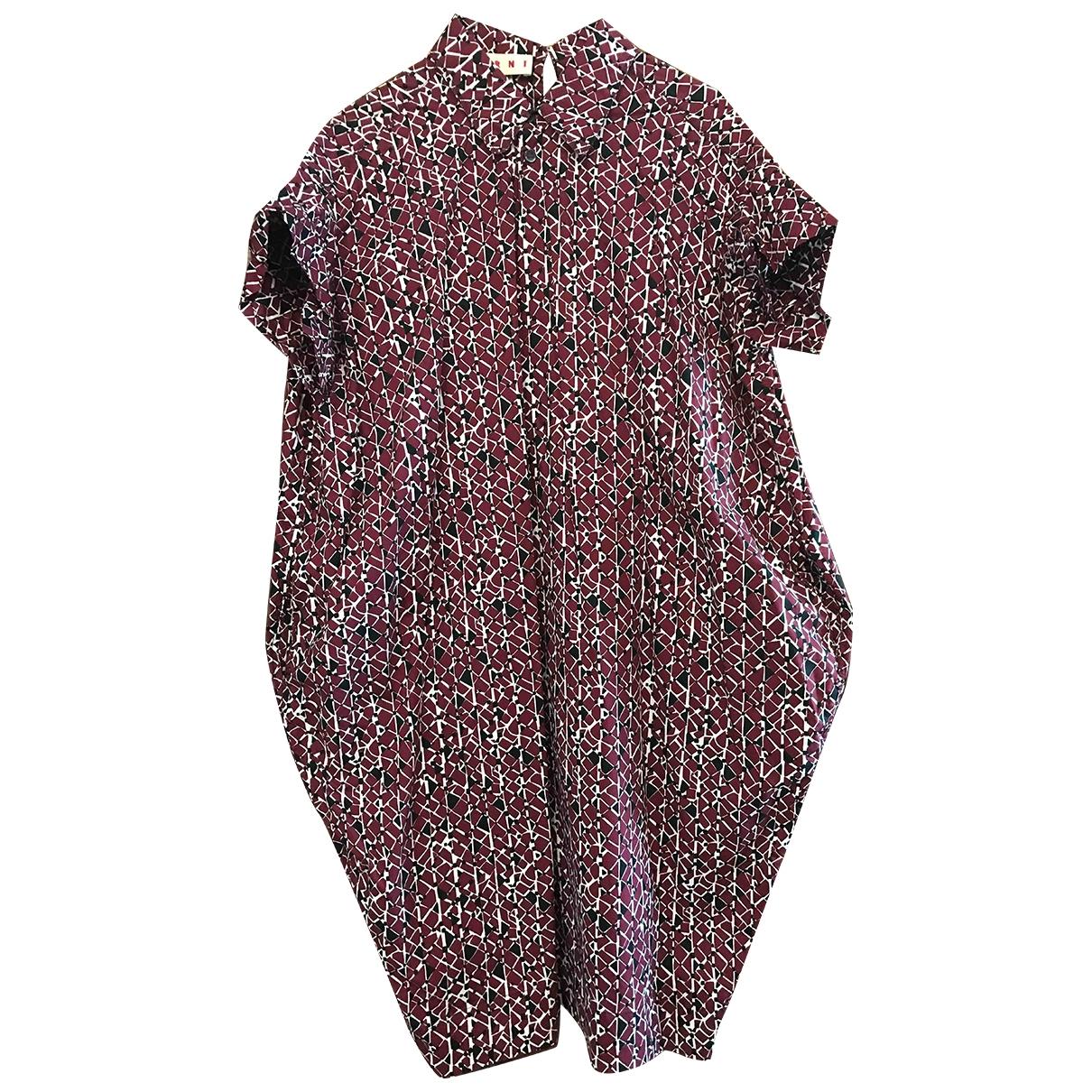 Marni - Robe   pour femme en coton - multicolore