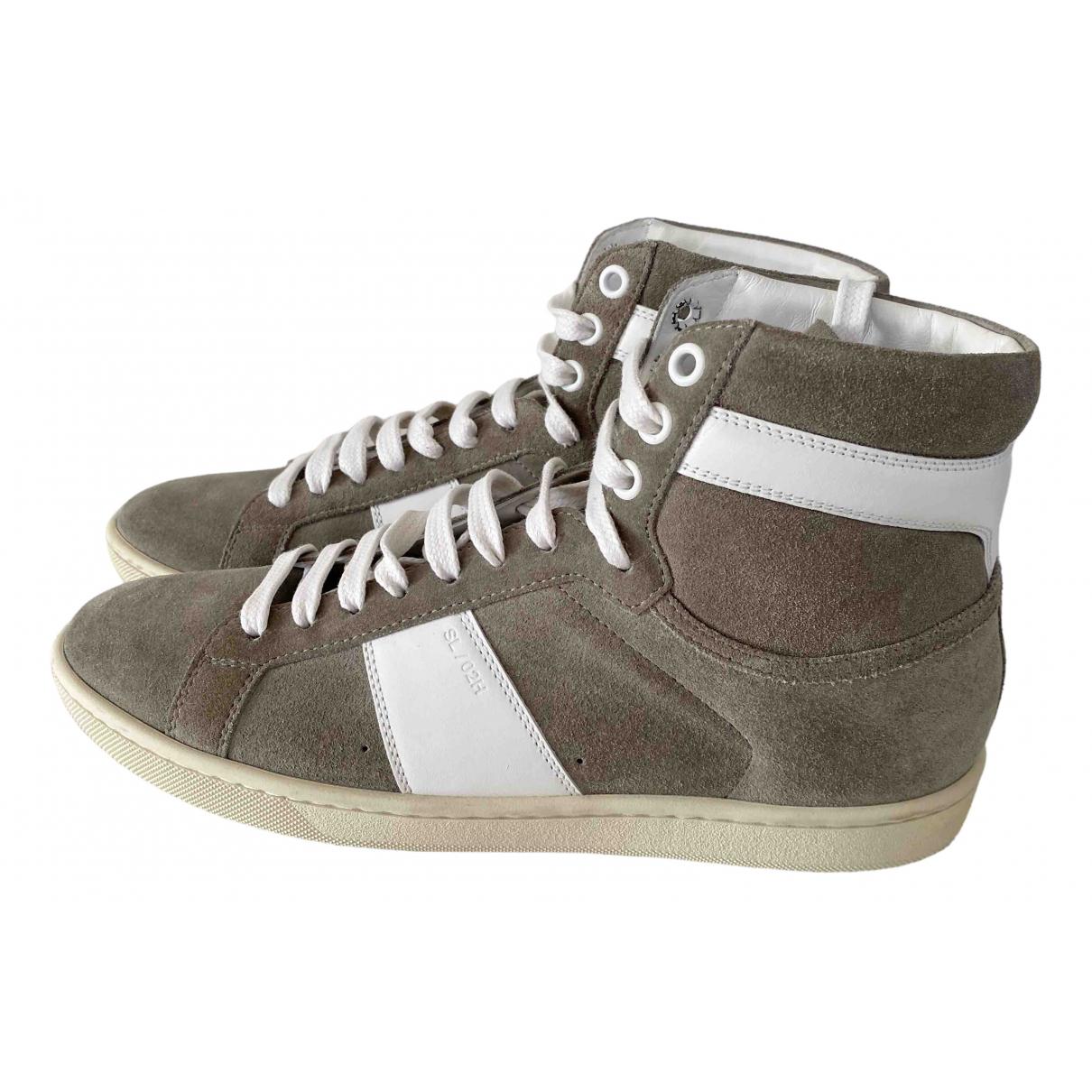 Saint Laurent \N Sneakers in  Beige Veloursleder