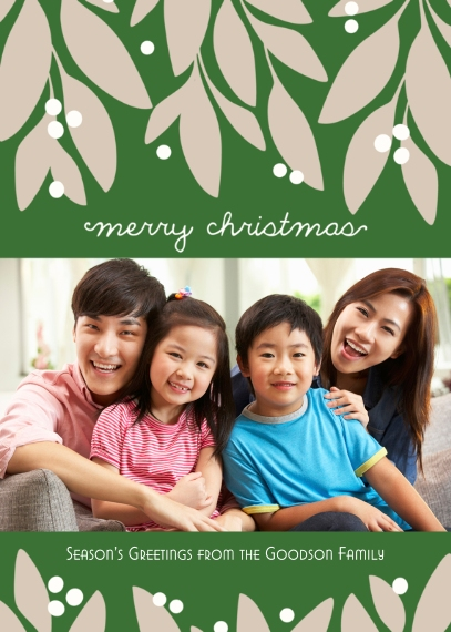 Christmas Photo Cards Flat Glossy Photo Paper Cards with Envelopes, 5x7, Card & Stationery -Garland Christmas