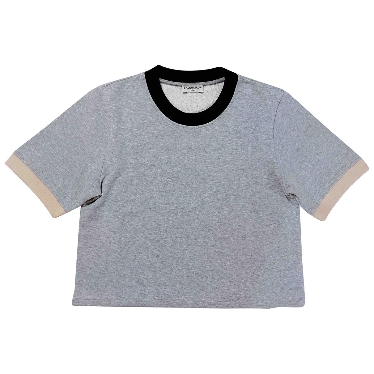 Balenciaga - Top   pour femme en coton - gris