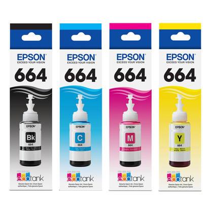 Epson T664 Original Ink BK/C/M/Y