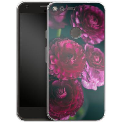 Google Pixel Silikon Handyhuelle - Purple Ranunculus 2 von Joy StClaire