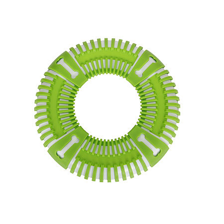 Pet Life Flexbark Flexible Frisbee Extreme Outdoor Training Durable Fetch Dog Toy, One Size , Green