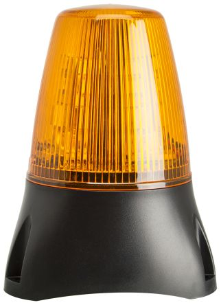 Moflash LEDD100 Amber LED Beacon, 8 → 20 V ac/dc, Flashing, Surface Mount, Wall Mount