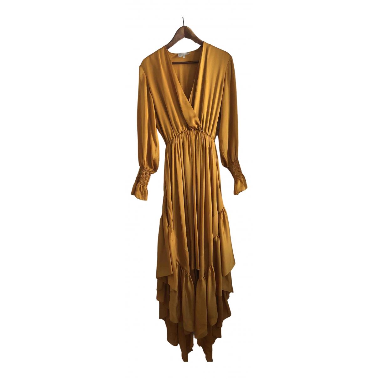 Arje \N Kleid in  Gelb Seide