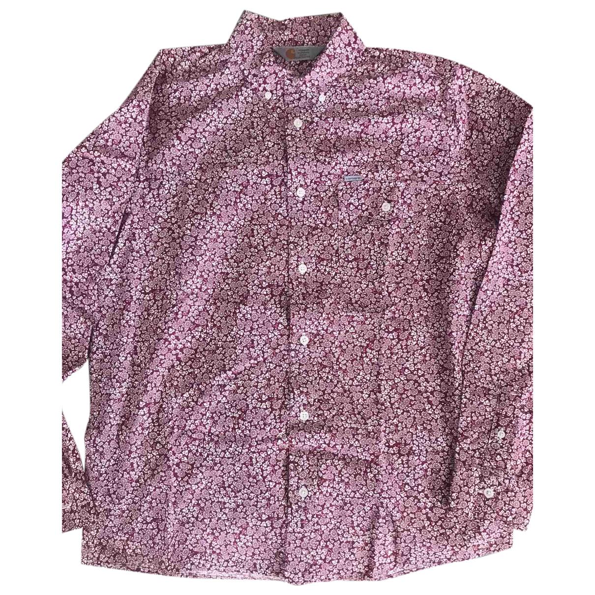 Carhartt - Chemises   pour homme en coton - bordeaux
