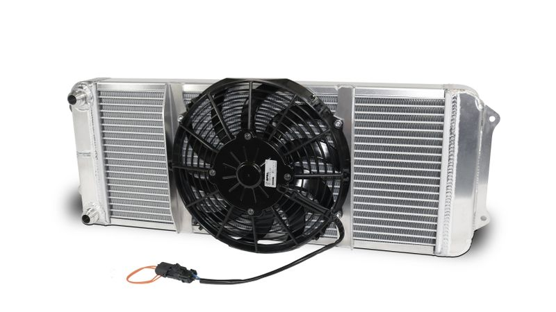 AFCO 80421 Asphalt Oil Cooler with Single Fan Double Pass 12AN Male Inlet and Outlet
