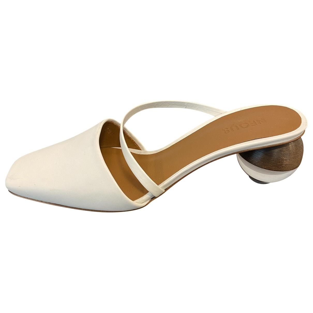 Neous - Sandales   pour femme en cuir - blanc