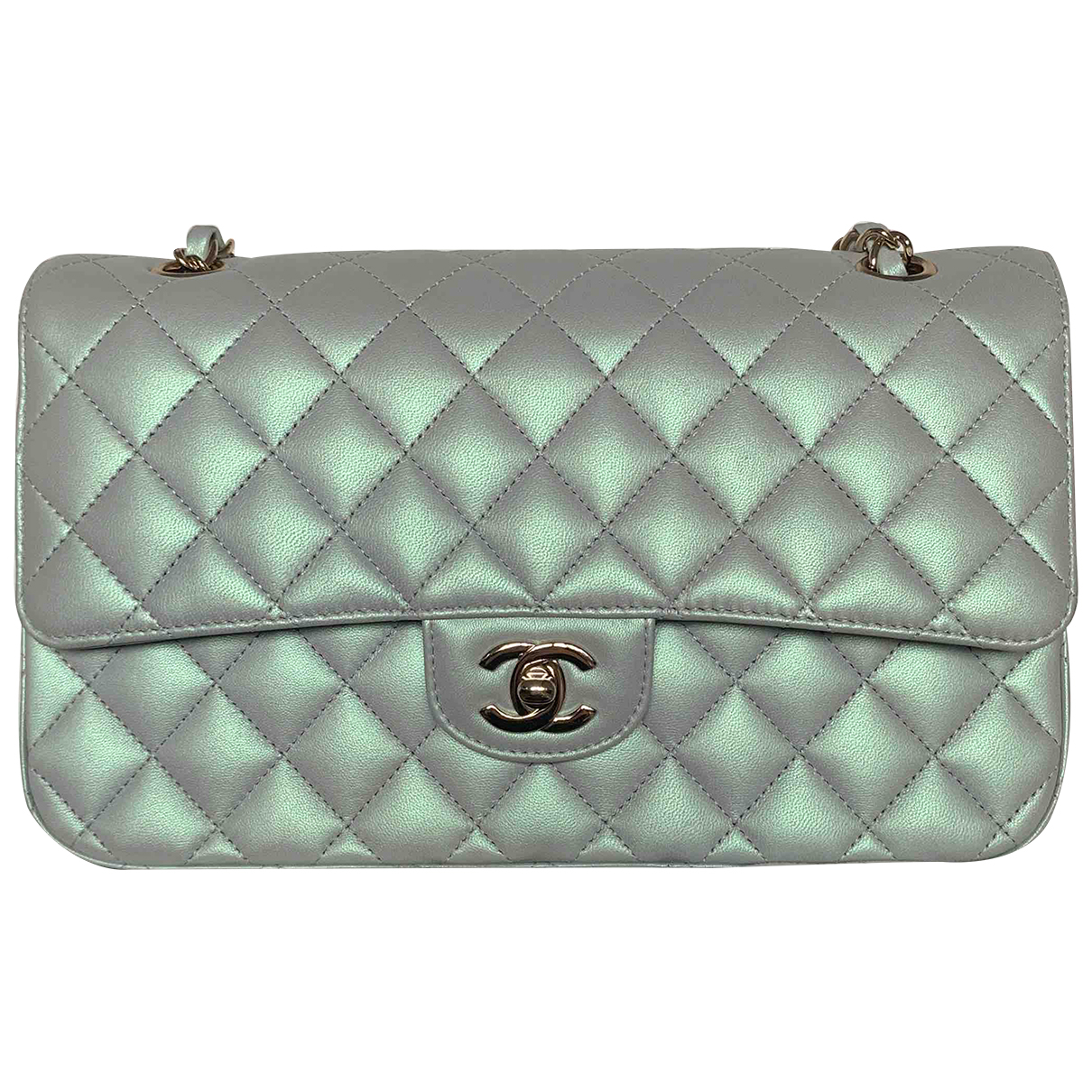 Chanel Timeless/Classique Green Leather handbag for Women N
