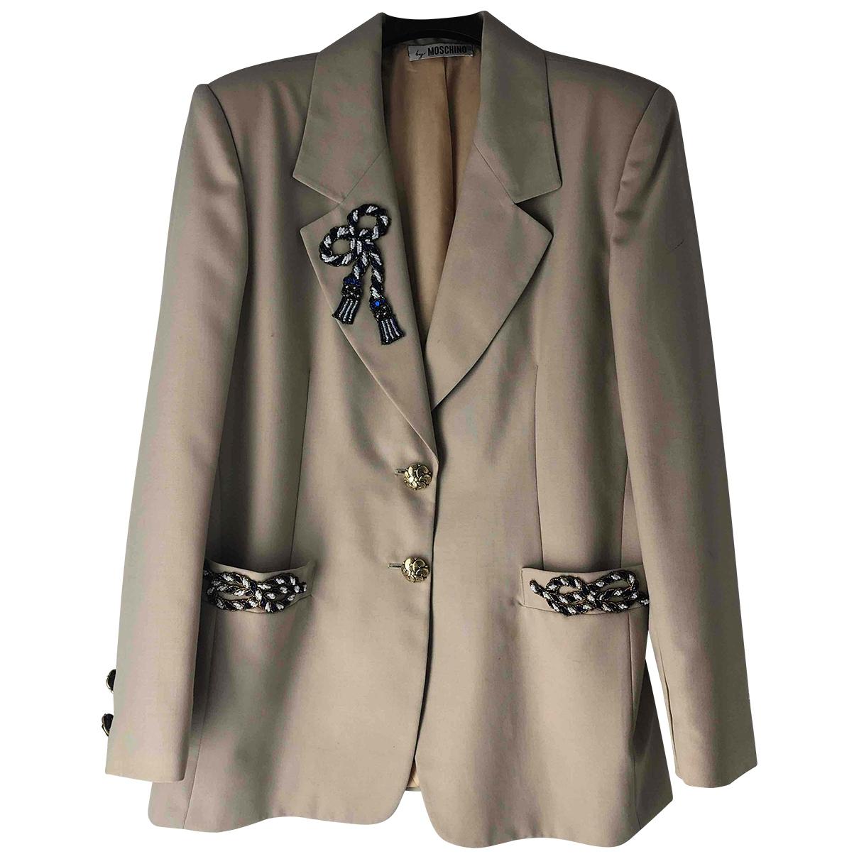 Moschino Cheap And Chic - Veste   pour femme en laine - beige