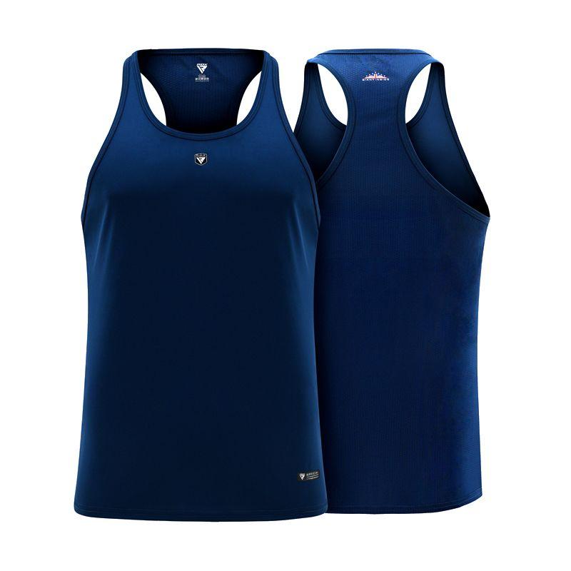 Free RDX T Shirt Vest and Stringer-Stringer-Blue-S