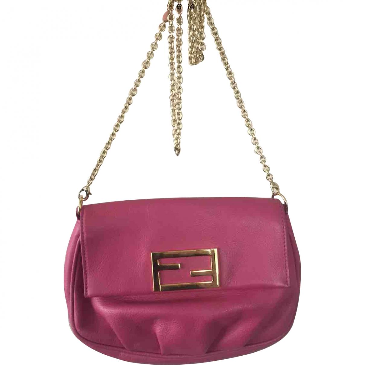 Fendi \N Handtasche in  Rosa Leder