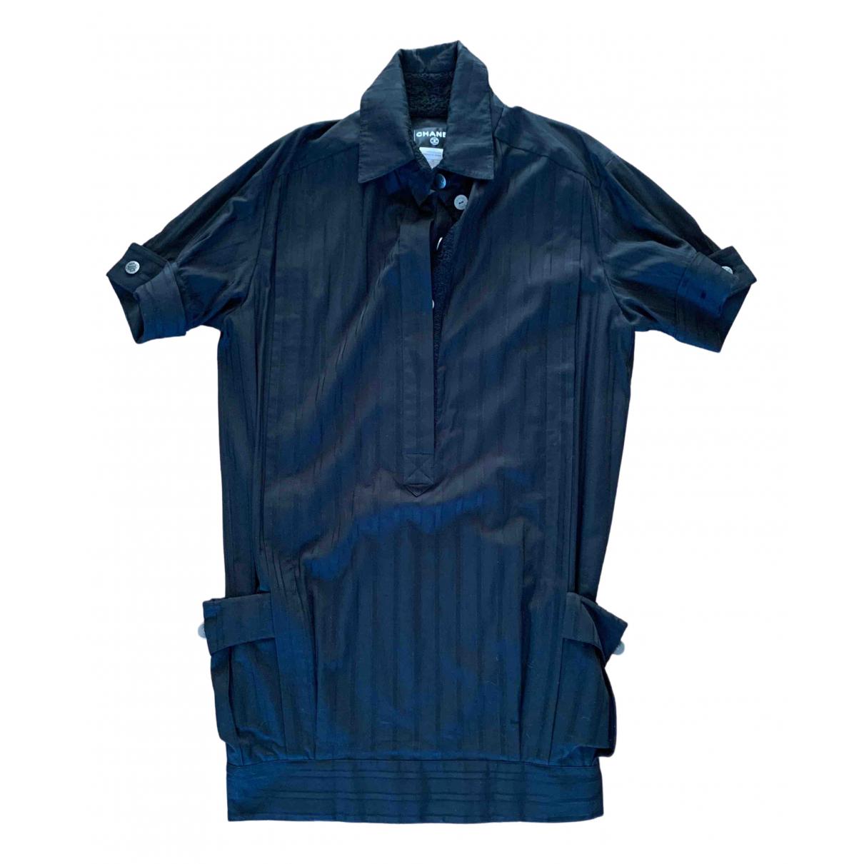 Chanel \N Kleid in  Schwarz Baumwolle
