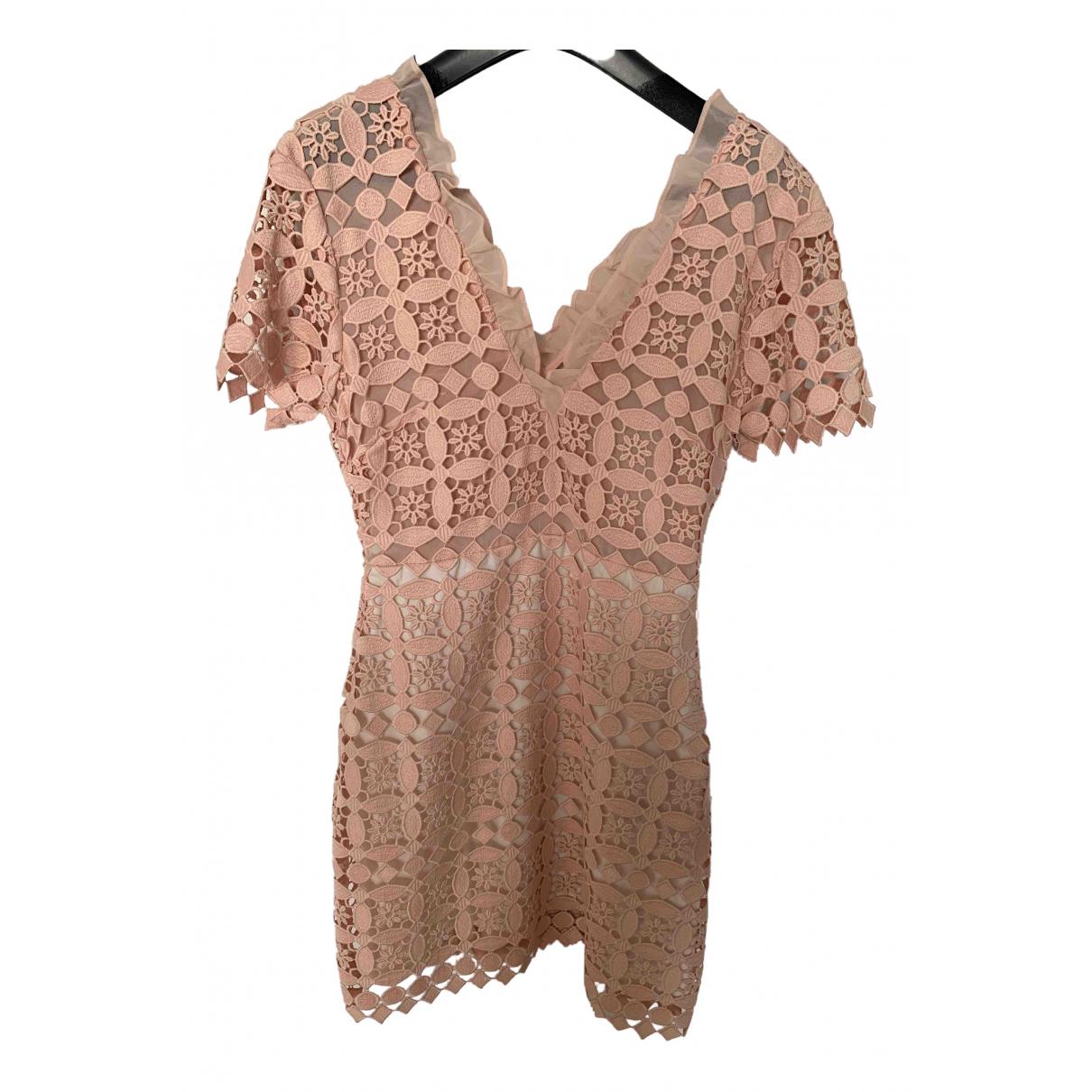 Sandro - Robe   pour femme en coton - rose