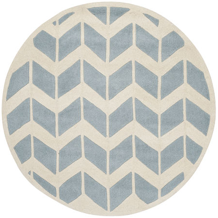 Safavieh Myles Chevron Hand Tufted Wool Rug, One Size , Blue