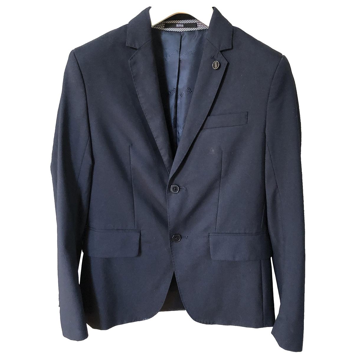 Boss \N Blue Wool jacket & coat for Kids 12 years - XS FR
