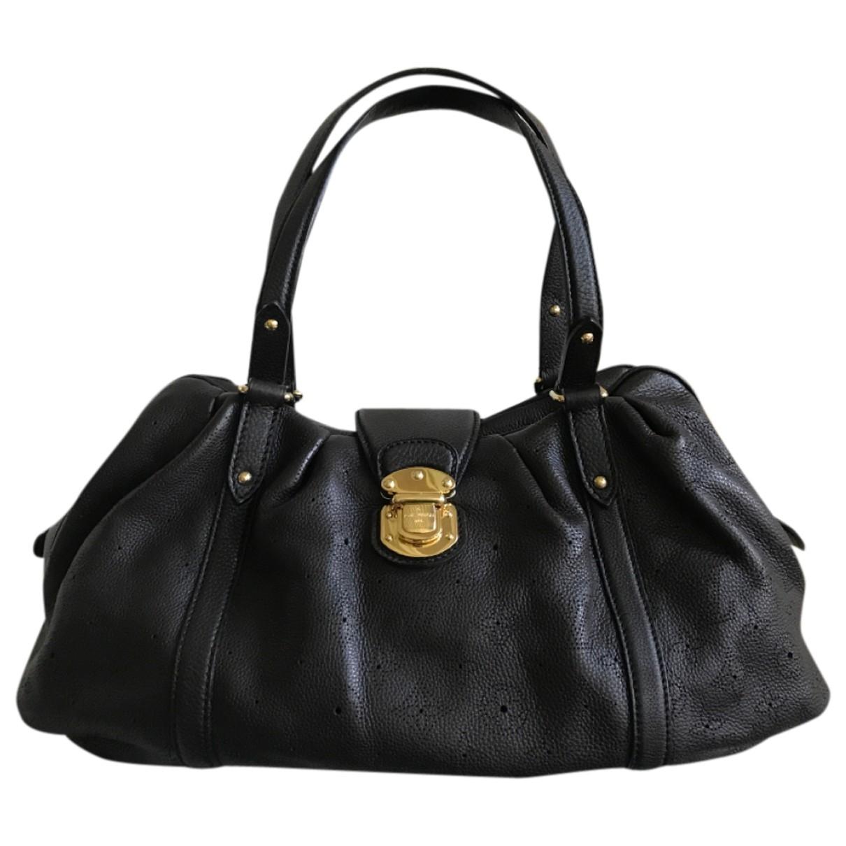 Louis Vuitton Mahina Handtasche in  Schwarz Leder