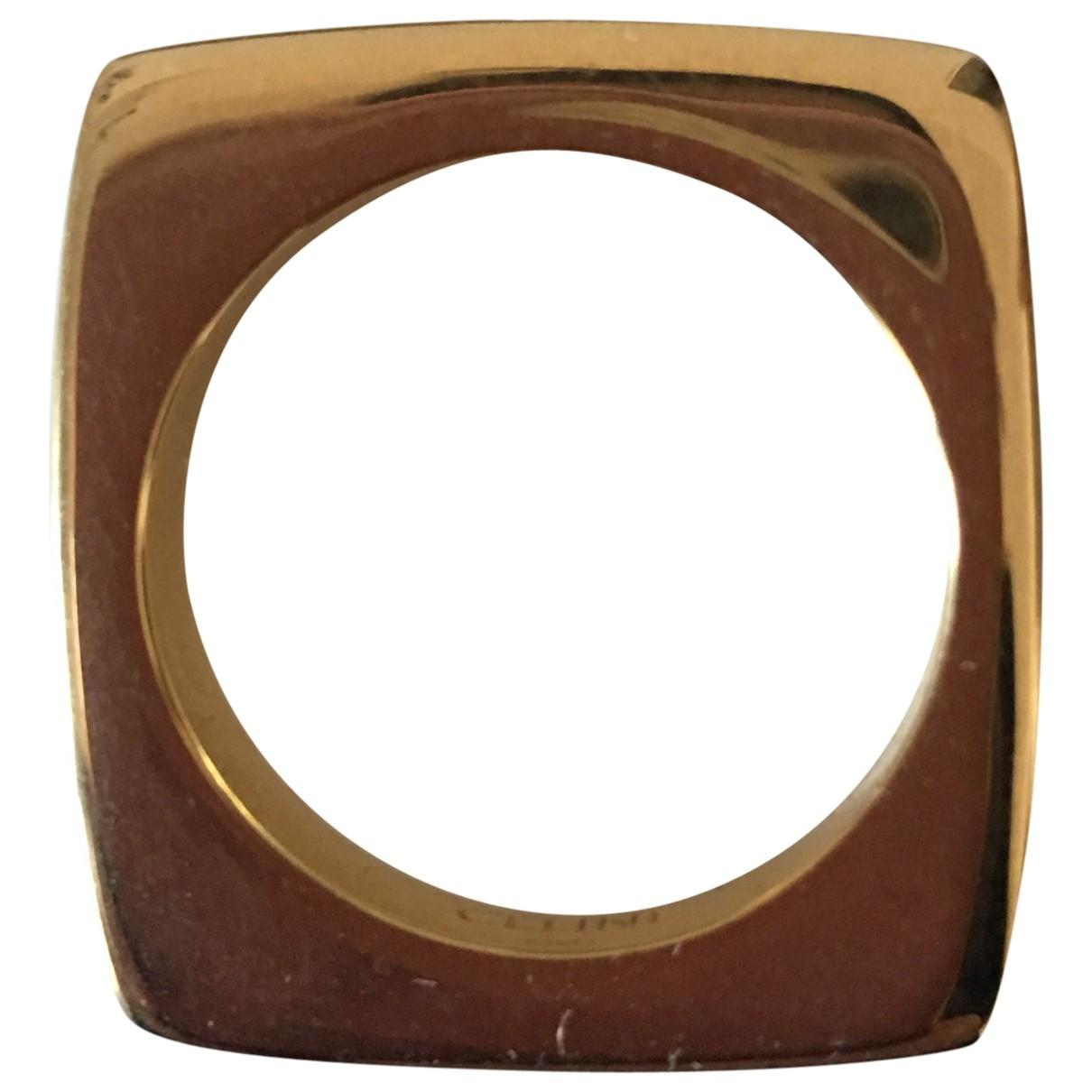 Celine \N Ring in  Gold Vergoldet