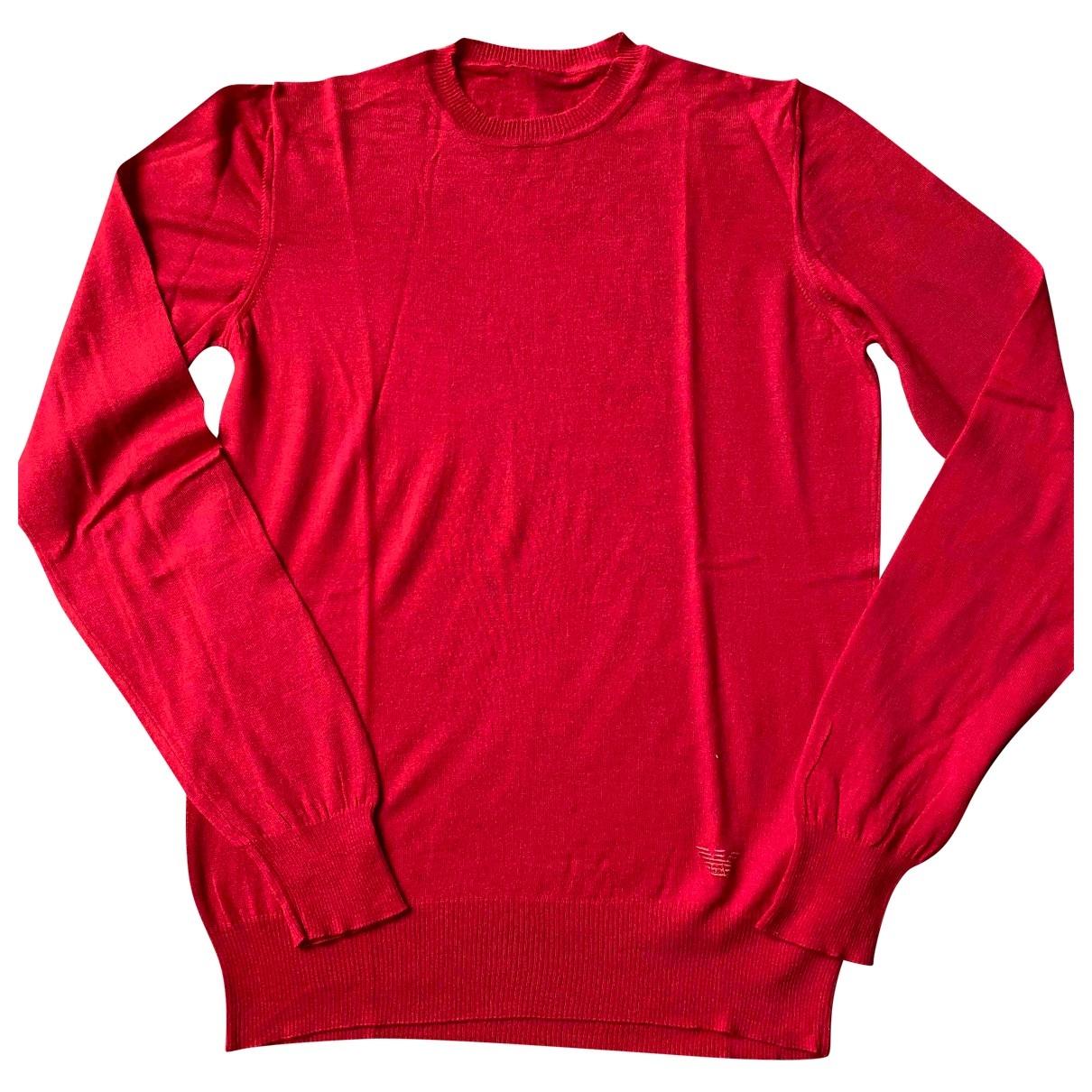 Giorgio Armani - Pulls.Gilets.Sweats   pour homme en laine - rouge